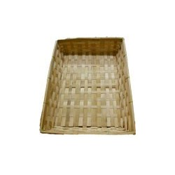 Corbeille bambou rectangle 36 x 26 x 7 cm.